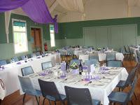 The Church hall laid out for a wedding reception